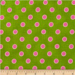 Lily's Garden Lined Dots Green