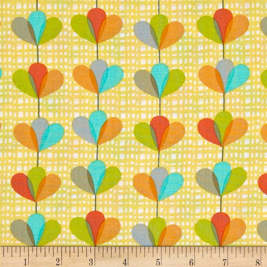 Michael Miller Petal Garland Canary Fabric By The Yard
