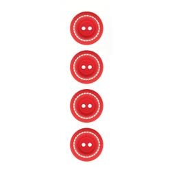 Riley Blake Sew Together 1'' Stitched Button Red