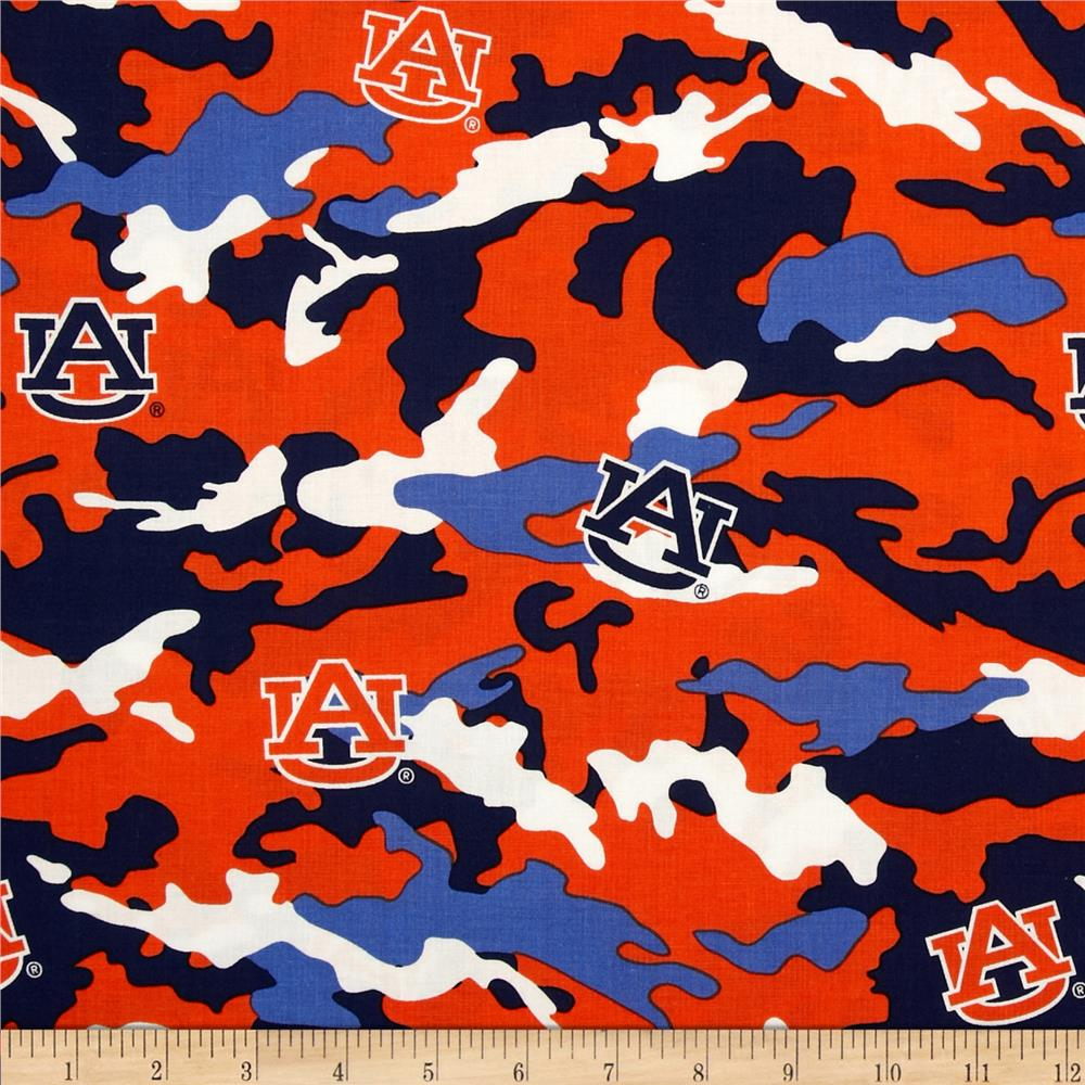 Auburn University Cotton Camouflage Orange/Blue