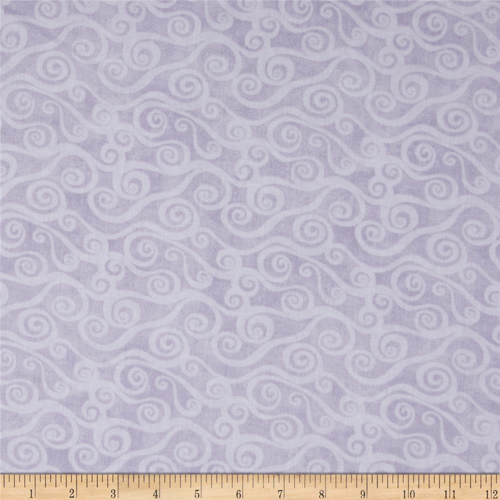 "108"" Wide Quilt Back Swirly Scroll Grey"