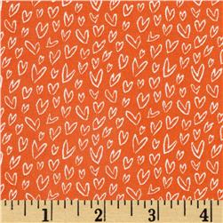 Dear Stella Woodwinked Mini Hearts Orange