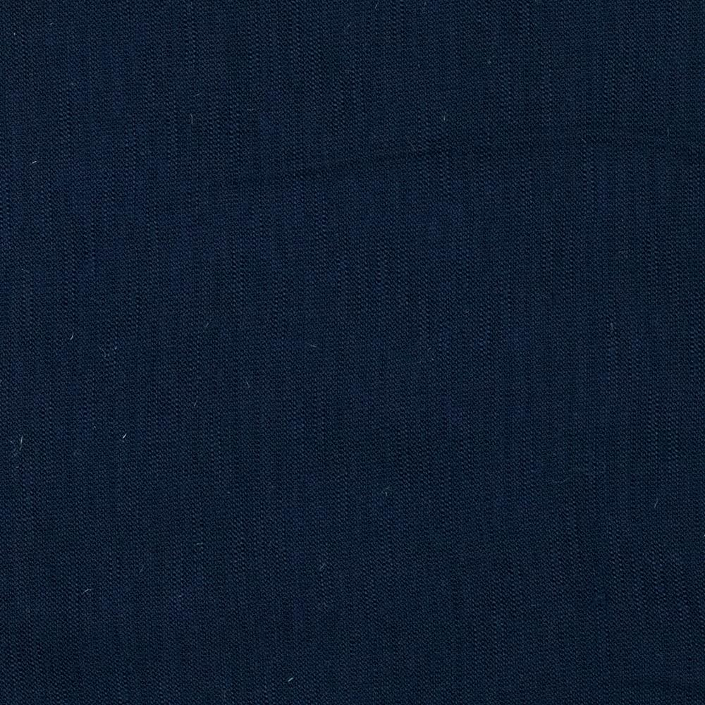 Stretch Rayon Slub Jersey Knit Navy