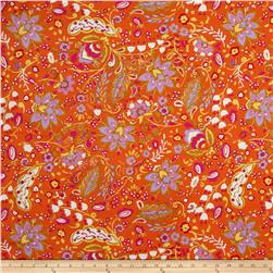 Dena Designs Sunshine Linen Blend Bellflower Orange Fabric