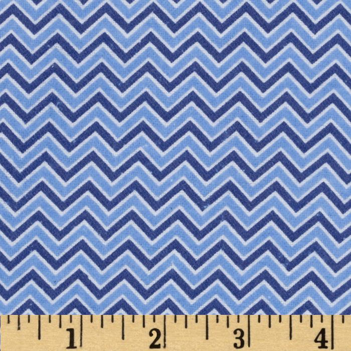 Alpine Flannel Chevron Medium Blue