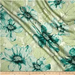 Liberty of London Silk Twill Blooming Marvellous Mint
