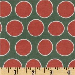 Riley Blake Valencia Laminated Cotton Dot Coral