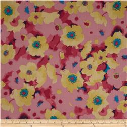 Maribel Voile Bold Flowers Yellow/Rose