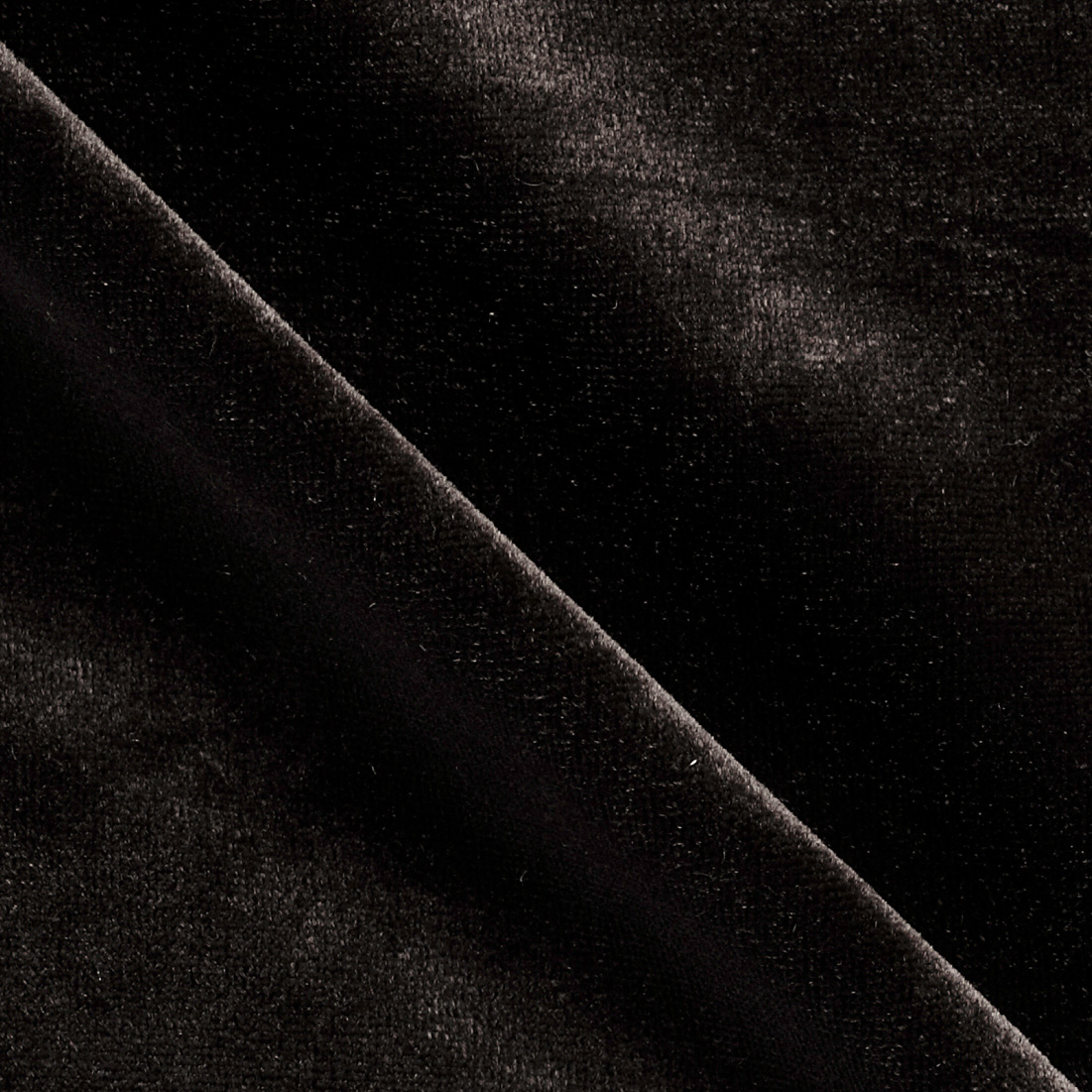 Stretch Velvet Black Fabric