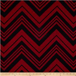 Scuba Knit Chevron Burgundy/Black