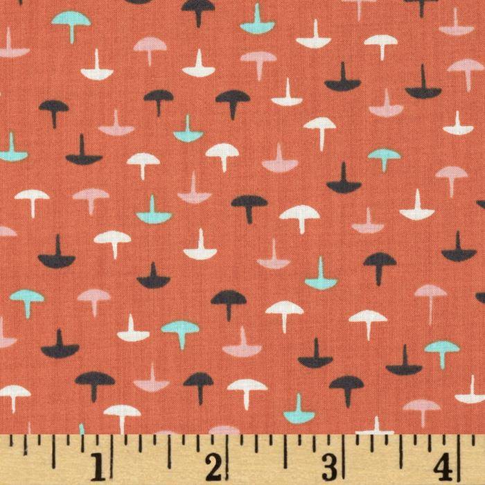 Cotton & Steel Lawn Homebody Tacks Coral
