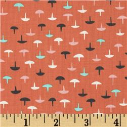 Cotton & Steel Lawn Homebody Tacks Coral Fabric
