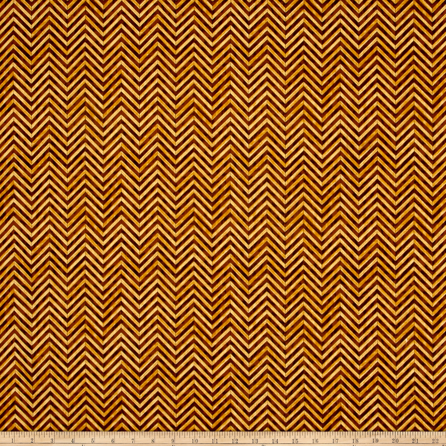 Craftsman Chevron Brown Fabric