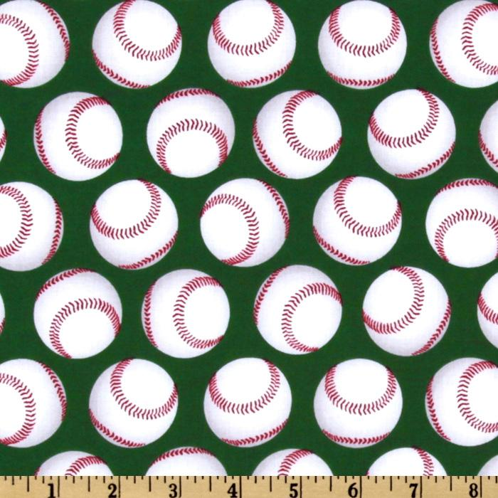 Sports Life Baseballs Green/White