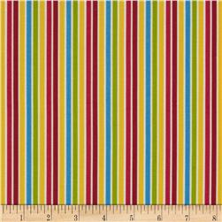 Pin Stripes White/Bright Fabric