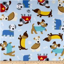 Fleece Dogs Blue