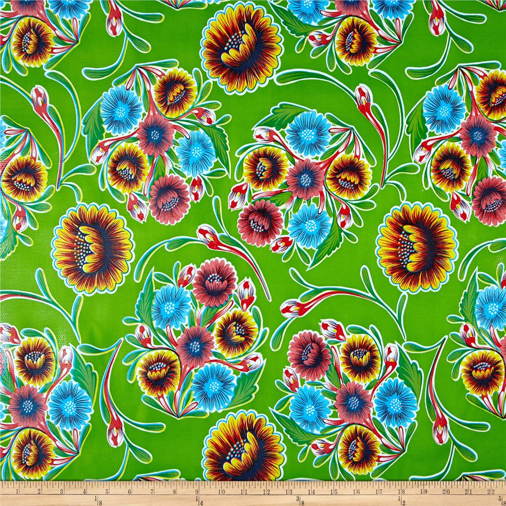 Oilcloth Bloom Lime