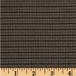 Designer Suiting Herringbone Stripe  Brown