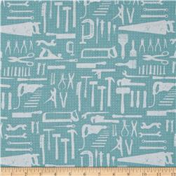 Hammer & Nails The Workshop Blue Fabric