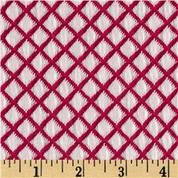 Harmony Jacquard Diamond Knit Hot Pink/White