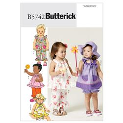 Butterick Infants' Top, Bloomers, Pants and Hat Pattern B5742 Size YA0