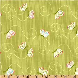 Michael Miller Bella Butterfly Flutterby Green Fabric