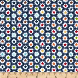 Riley Blake Play Ball Flannel Star Navy