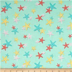 Michael Miller Sea Buddies A Sea of Stars Seafoam