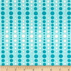 Moda Hugaboo Flannel Dot To Dot Airplane Aqua