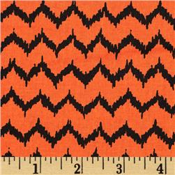 Spooktacular Too Halloween Ikat Orange