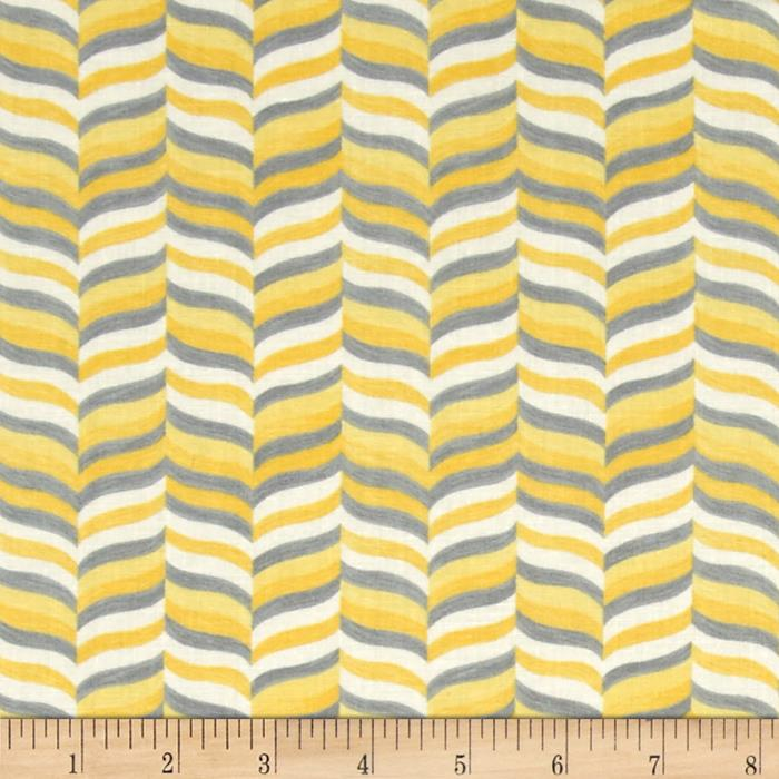 Moda Hugaboo Wavy Herringbone Sunshine Yellow