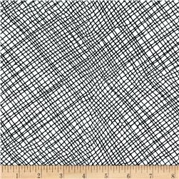 Moda Thicket Crosshatch White/Black