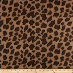 Fleece Print Paws Mocha/Brown