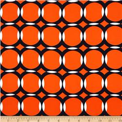 Peachskin Geometric Orange/Navy/White