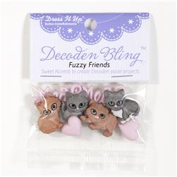 Dress It Up Embellishment Buttons Fuzzy Friends