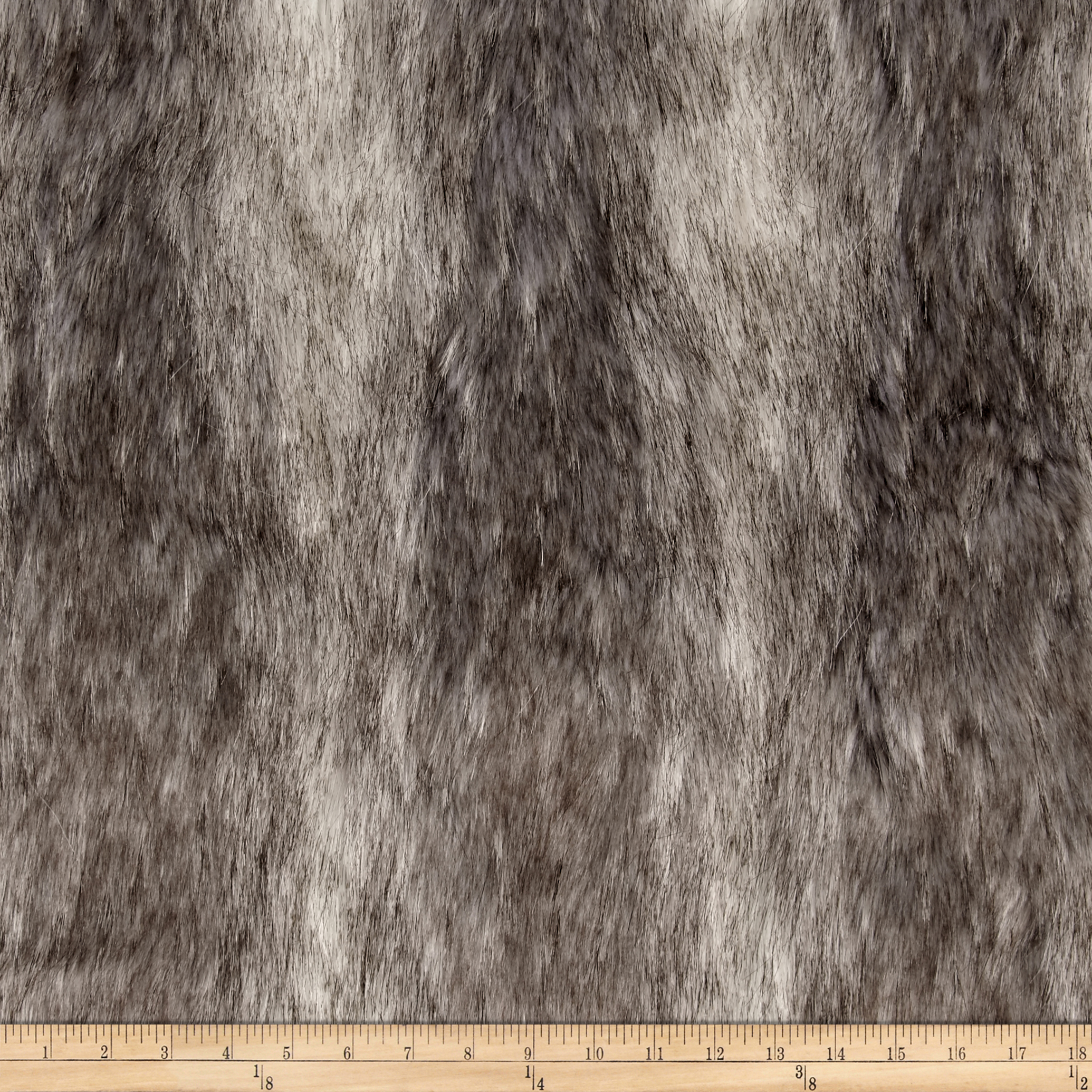 Faux Fur Canadian Fox Stone Fabric