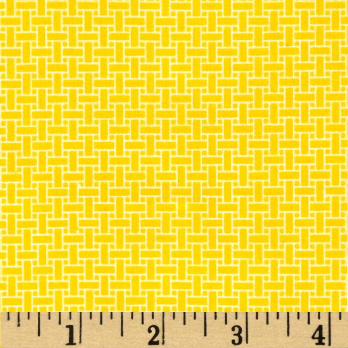 Basics Flannel Basketweave Yellow