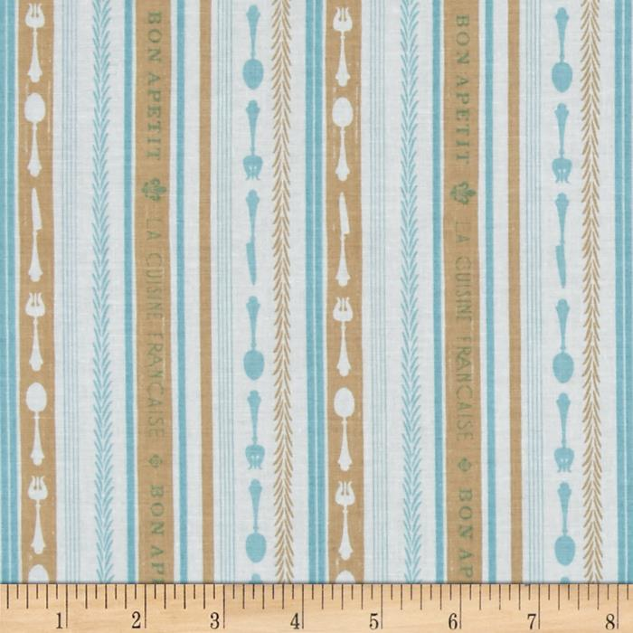 Riley Blake Ooh La La Stripe Aqua