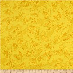 110'' Wide Quilt Backing Butterfly Yellow