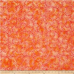 Wilmington Batiks Fans Coral/Orange