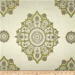 Starlight Lourier Medallion Satin Jacquard Mint