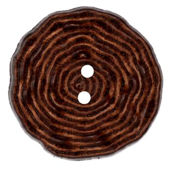 Fashion Button 1 1/2'' Squiggels Brown