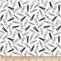 My Happy Place Clothes Pins Black/White