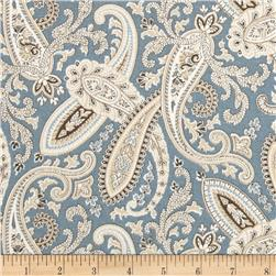 Covington Ballard Paisley Blue Fabric