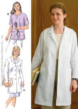 Kwik Sew Ladies Lab Coat & Top Pattern