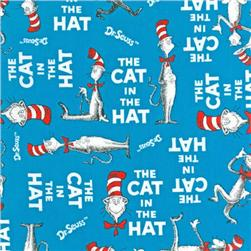 The Cat In The Hat Minky Cuddle Cat Walk Azure