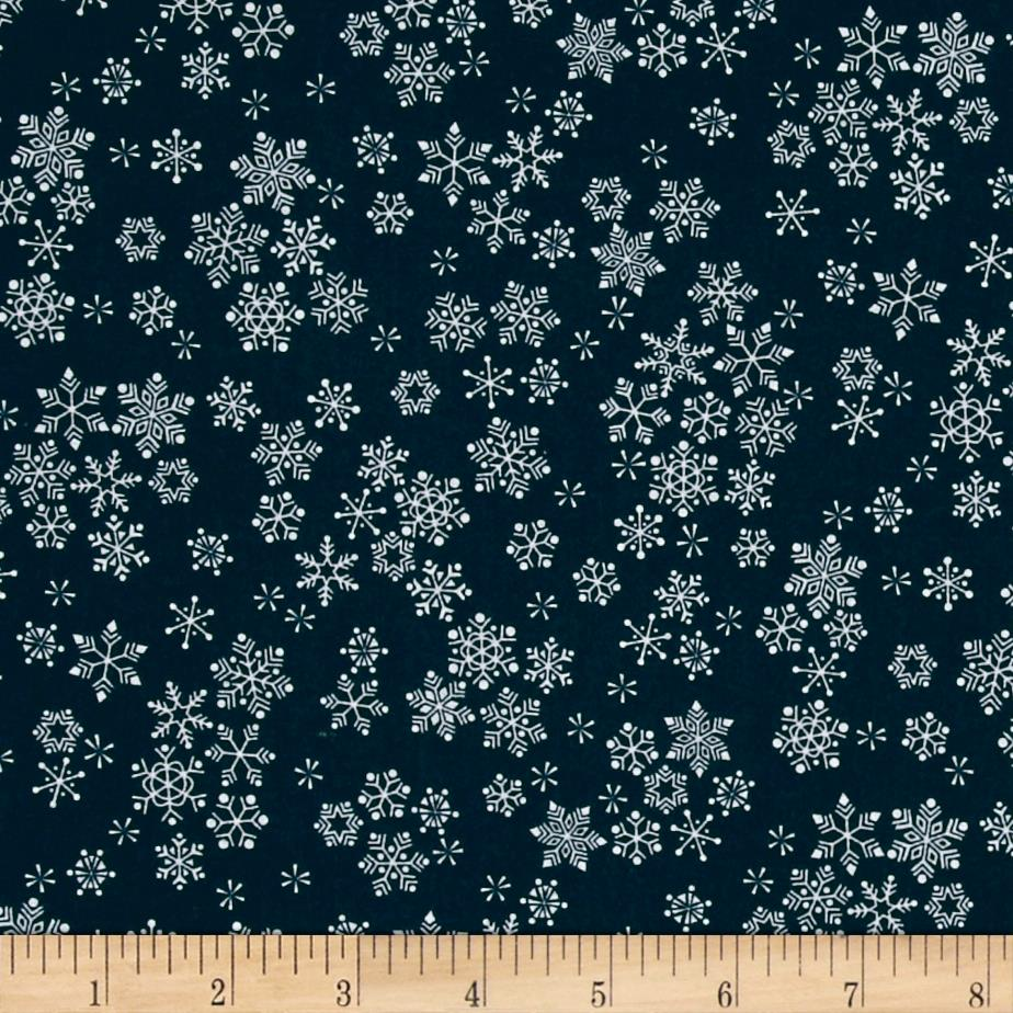 Frosty Snowflakes Blue