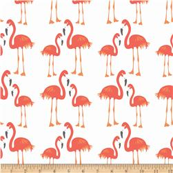 Riley Blake Lula Magnolia Flamingo Orange Fabric