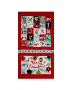 "25 Days of Christmas Large 23"" Panel Advent Light Red"