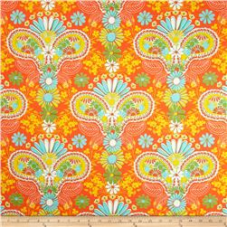 Jenean Morrison Lovelorn Damask Orange Fabric